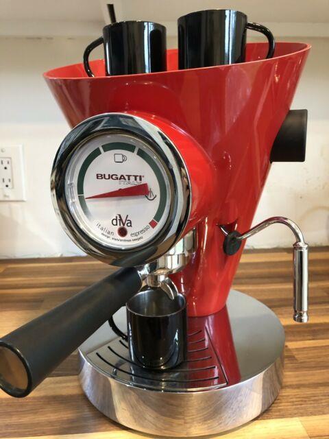110v Atomic Red Italian Built Espresso Machine Bugatti Diva Coffee Cappuccino