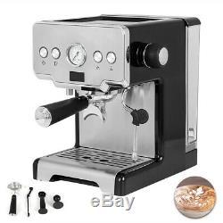 220V Cooks Professional Espresso Coffee Machine Cappuccino Latte Maker 15Bar