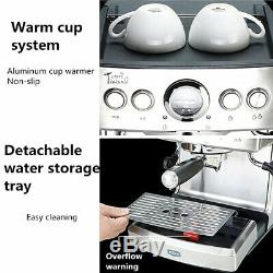 2.1L Espresso Coffee Machine Maker Cappuccino Latte Stainless Steel Office Bar