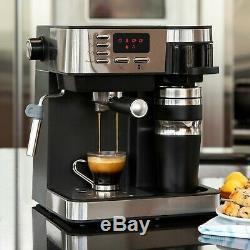 3-in-1 Espresso, Drip Coffee, and Cappuccino Latte Maker Machine Best Choice Pro