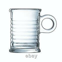 6x Luminarc Conserve Moi 90ml Espresso Coffee Mug Glass Cappuccino Tea Hot Drink