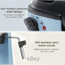 800W 5 Bar Coffee Machine Espresso Cappuccino Latte Drink Maker Milk Steamer