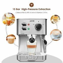 AICOK Espresso Machine, Cappuccino Maker, Latte Coffee Maker, Moka Maker