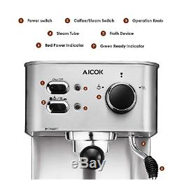 AICOK Espresso Machine, Cappuccino Maker, Latte Coffee Maker, Moka Maker, Espres