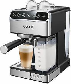 AICOOK CM6858 15 bar Pump Barista Espresso Machine Cappuccino/Latte Coffee Maker