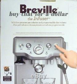 BRAND NEWBreville the Infuser Espresso Cappucino Machine-BES840XL-Coffee-Latte