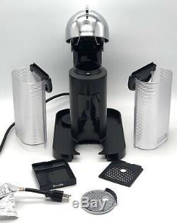 BREVILLE NESPRESSO VERTUO Coffee Espresso Machine Aeroccino Milk Frother Chrome