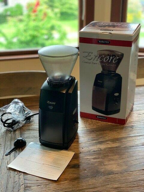 Baratza Encore Conical Burr Coffee Mill, Black, Pre-owned Excellent Condition