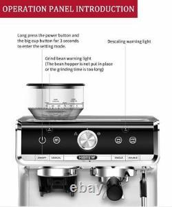 Barista Auto Grinding Bean Coffee Automatic Cappuccino Commercial Espresso Maker