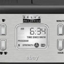 Bella Pro Series Combo 19-Bar Espresso and 10-Cup Drip Coffee Maker Stain