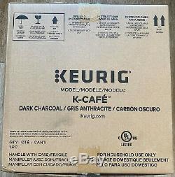 Brand New Keurig K-Cafe Single Serve K-Cup Coffee Maker Dark Charcoal