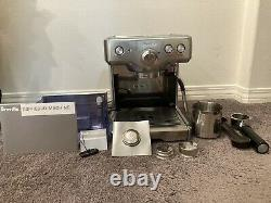 Breville Barista Stainless Steel Espresso Coffee Machine. Used Twice