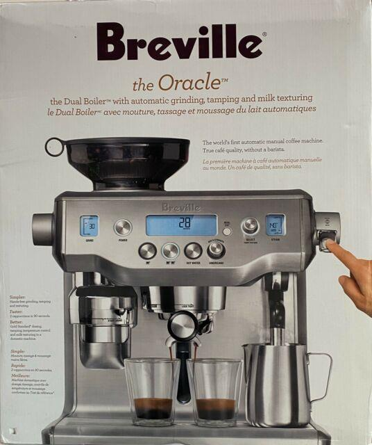 Breville Oracle Bes980xl Espresso Cappuccino Coffee Maker Touch Stainless Steel