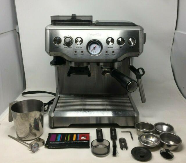Breville The Barista Express Coffee Machine Stainless Steel Silver Bes870bss