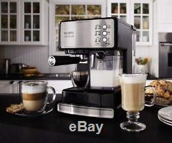 Coffee Mr Espresso Maker Cup Machine White 4 Cappuccino Cafe Steam BVMC-ECMP1000