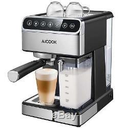 Coffee maker Espresso 15 Bar Capacity 1.8 L Milk Frother to Cappuccino