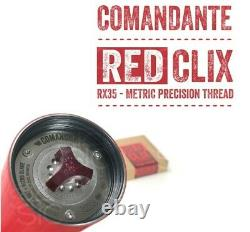 Comandante C40 MKIII Manual Coffee Grinder Black with RX35 RED CLIX Barely Used