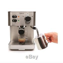 Commercial Espresso Coffee Maker and Cappuccino Machine Barista Brewer Silver