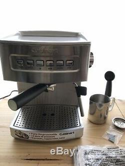 Cuisinart Espresso Coffee Maker Cappuccino Latte 15 Bar Programmable Machine NEW