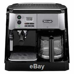 DeLonghi BCO430 Combination Espresso Coffee Machine Drip System Silver and Black