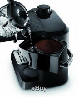 DeLonghi Espresso Machine Cappuccino Drip Coffee Maker Combo Black BCO320T