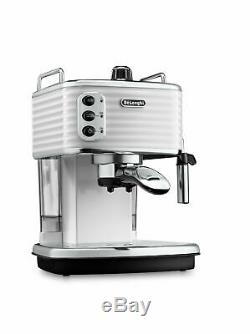 De'Longhi Scultura White Pump Espresso Coffee Machine ECZ351. W