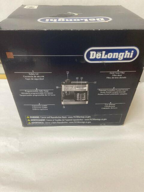 Delonghi Bc0330t Combination Drip Coffee Cappuccino Espresso Machine -black Used