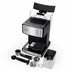 Espresso Cappuccino Coffee Maker 1040W Stainless Steel Counter Top Latte Machine