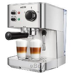 Espresso Machine Aicok, Cappuccino and Latte Coffee Maker, 15 Bar Espresso Maker