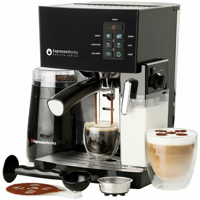 Espresso Machine Cappuccino Maker 19 Bar Pump Set Frother Coffee Grinder 1.4l
