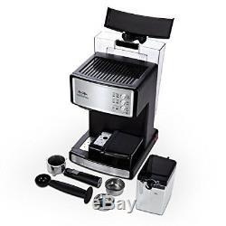 Espresso Maker Machine Cappuccino Coffee Cafe Latte Barista Silver Mr. Coffee