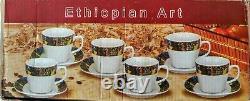 #Ethiopian Coffee Saba Ceramic Cups. 12 set #Bunna Cini. Free Shipping