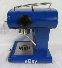 Francis Francis X1 Coffee Cappuccino Maker Espresso Blue Retro With Parts (AD)