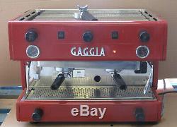 Gaggia E90 Coffee Espresso Cappuccino 2-Group 98 Barista Machine 240V 1-Phase