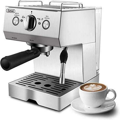 Gevi Espresso Coffee Machines & Cappuccino Steam Machine Stainless Steel