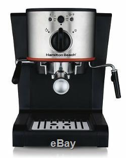 Hamilton Beach Espresso & Cappuccino Maker, Black Espresso Machine coffee