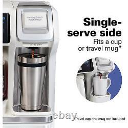 Hamilton Beach FlexBrew 2 Way Coffee Maker Single-Serve/12 Cup Pot White 49947