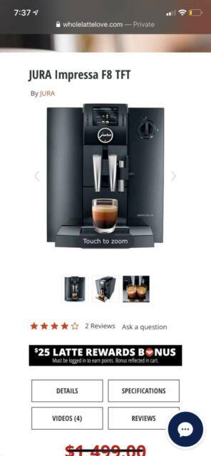 Jura E8 Pulse Extraction Process 1450w Coffee Machine Piano Black (15109)
