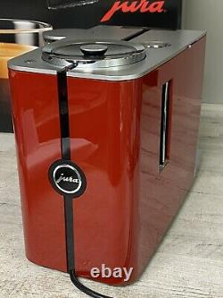 Jura ENA 8 Automatic Coffee Machine Sunset Red Pre Owned No Used Much Clean