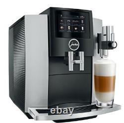 Jura S8 Superautomatic Touchscreen Espresso Machine Moonlight Silver Brand New