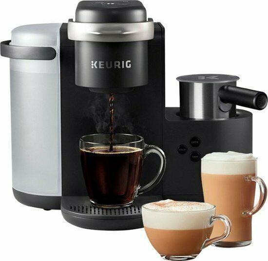 Keurig K-cafe Single Serve K-cup Coffee Maker Dark Charcoal (8b-ob)