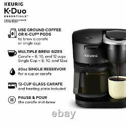 Keurig K-Duo Essentials Coffee Maker, Single K-Cup Pod & 12 Cup Brewer 2DayShip