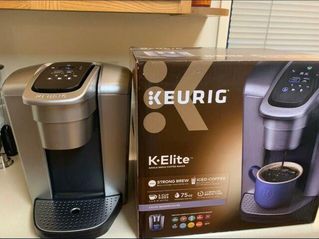 Keurig K-elite Brushed Silver Single Serve Coffee Maker Free Shpping
