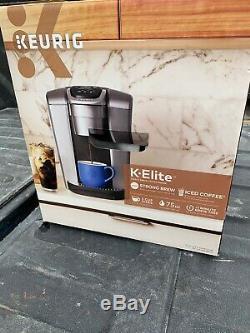 Keurig K-Elite C Single Serve Coffee Maker Brushed Silver