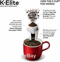 Keurig K-Elite Single Serve K-Cup Coffee Maker, Brushed Slate, Brand New