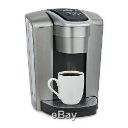 Keurig K-Elite Single Serve K-Cup Pod Hot & Iced Coffee Maker, Brushed Silver