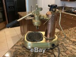 La Pavoni Europiccola Brass Copper Lever Espresso Cappuccino Coffee As Is Untest