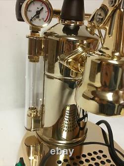 La Pavoni Professional PRG Lever Espresso Coffee Machine & Cappuccino Maker Gold