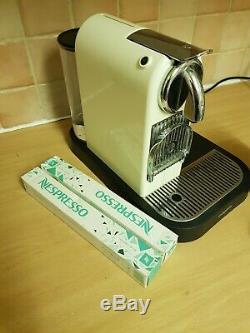 Magimix Nespresso CitiZ Coffee Pod Machine. Cream with Black milk frother