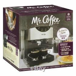 Mr. Coffee 2 Shot Pump Espresso Cappuccino Maker Black W